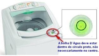 bolha de nivelamento lavadoras consul CWL75A CWL10B thumb Desmontagem e Testes das Lavadoras Consul CWL75A e CWL10B
