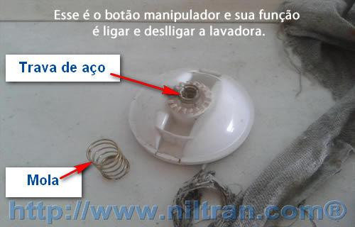 botão manipulador2 Como Trocar o Timer da Lavadora Electrolux LE08