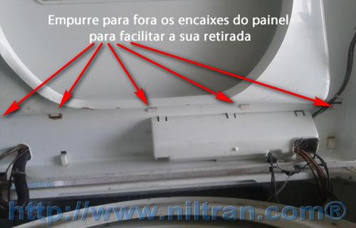 encaixes do painel Como Trocar o Timer da Lavadora Electrolux LE08