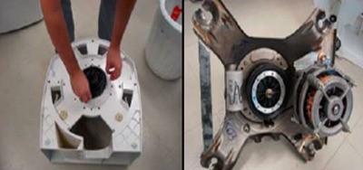 retirada  pinos proteo inferior lavadora consul floral 7kg thumb Desmontagem e Testes da Lavadora Consul Floral 7kg